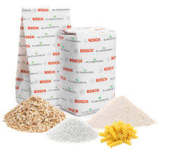 This solution, which was jointly developed for sealed paper packaging by Bosch Packaging Technology and BillerudKorsnäs, received a prize for its sustainability. Photo: Bosch Packaging