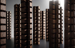 "A skyline made of paperboard boxes. Photo: ""Poetry of Packaging"" © Tom Seelbach"