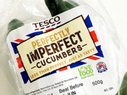 Perfectly Imperfect. It simply means selling any wonky or otherwise less attractive fruit and veg that would normally end up in the bin. Photo: Tesco PLC