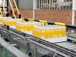 KHS has developed and installed an entire juice bottling line in PET bottles for a plant in Johannesburg. Photo: KHS