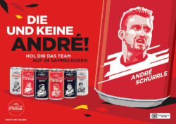 The special player portrait imagery on German Coca-Cola cans comes care of Indonesian illustrator Gilang Bogy. Photo: Coca-Cola Company