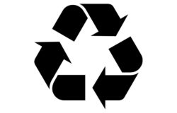 The Möbius loop tells us that the packaged product can be recycled. Photo: Wikipedia