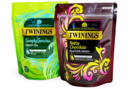 Mondi and Twinings have developed a pouch packaging for tea. Being re-closable it keeps its contents fresh and aromatic for longer. Photo: Mondi Group