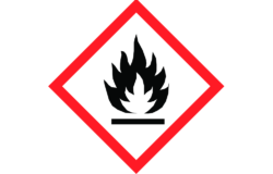 GHS02: Flammable/ Pictogram: www.reach-compliance.ch