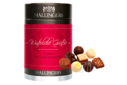 The run-up to Christmas is full of them: metal packages containing delightful treats such as chocolate, gingerbread and Christmas tea. Photo: Hallingers