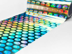 Holographic effects can increase the tamper-proofing of drug packaging. Photo: Schur Flexibles Group