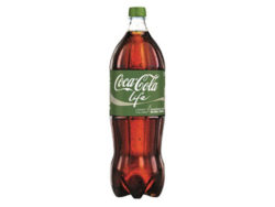 In 2015 Coca-Cola launched Coca-Cola Life in Germany – the first bottle exclusively made of recycling PET within the international Coca-Cola organisation. Photo: Coca-Cola Company