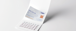 Patient Alert Cards and Medical Alert Cards as part of drug packaging are gaining importance and becoming more and more valuable for patients. Photo: August Faller Group