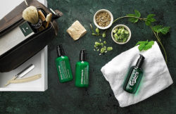 A global first and easy to recognise: Carlsberg, the beer manufacturers, have made their first bodycare line for men. Photo: Carlsberg