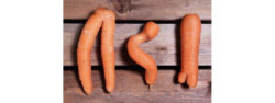 Asda (UK) is currently trialling wonky vegetables, e.g. the carrots shown here. These are available at a range of supermarkets, along with food that is past its best-before date. Photo: Asda Stores